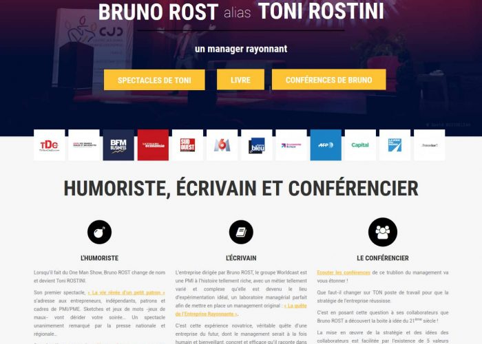 Refonte site internet wordpress toni rostini
