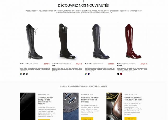 Boutique prestashop 1.7 L'Atelier de la Botte
