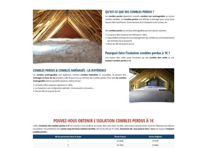 création site vitrine wordpress - pacte énergie rénovation