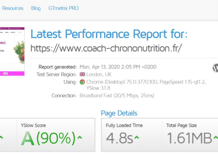coach-chrono-nutrition-gtmetrix