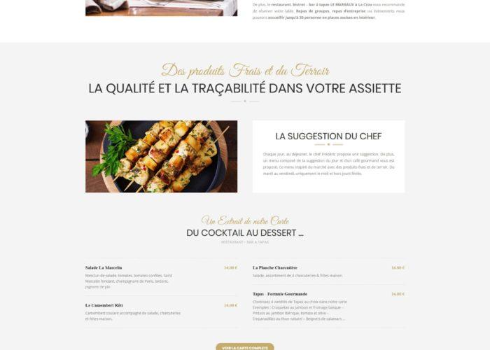 création site restaurant