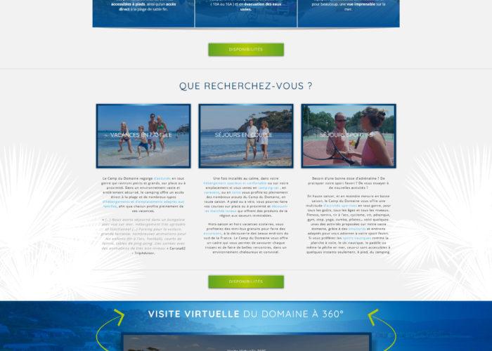 Création et référencement site wordpress camping var