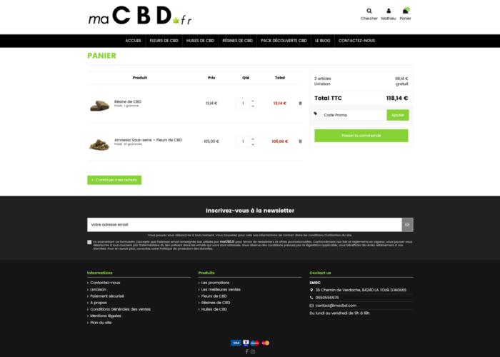 création site ecommerce prestashop cbd